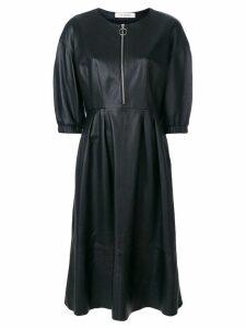 Yves Salomon leather dress - Black