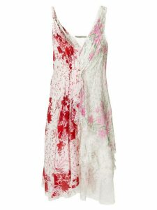 Ermanno Scervino asymmetric floral dress - White