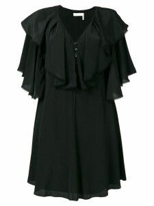 Chloé ruffle bib dress - Black