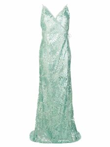 Maria Lucia Hohan sequin embroidered Zita gown - Blue