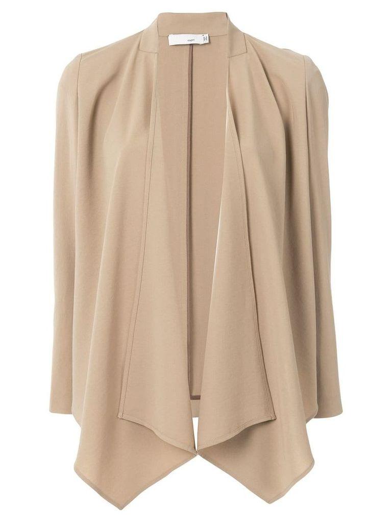 Knott draped blazer - Neutrals