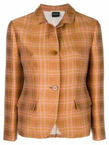 Aspesi plaid shirt jacket - Brown