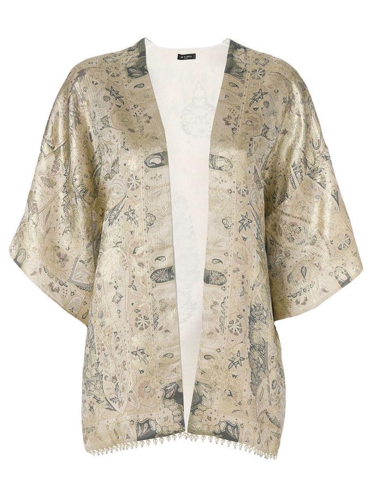 Etro patterned lightweight jacket - Neutrals