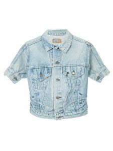 R13 cropped denim jacket - Blue