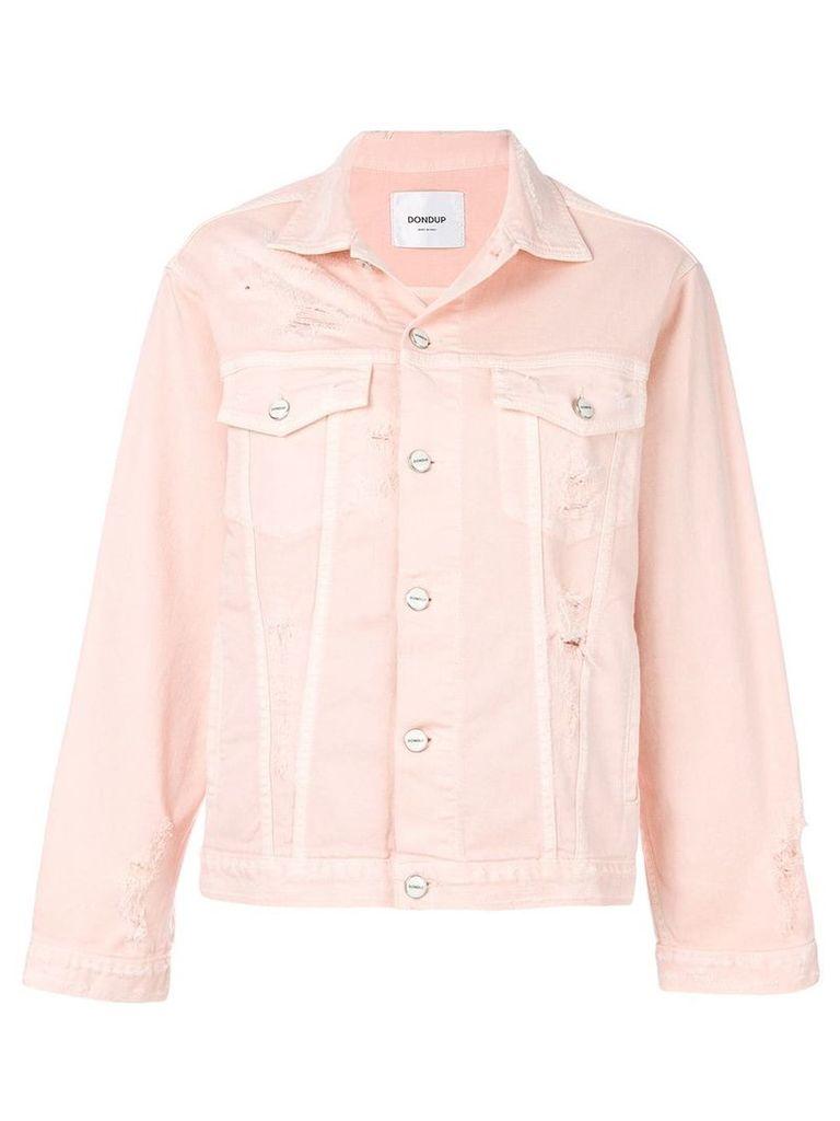 Dondup distressed denim jacket - Pink