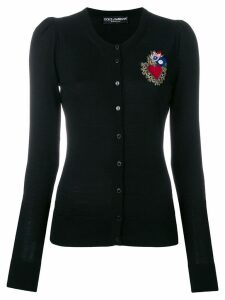 Dolce & Gabbana Sacred Heart patch cardigan - Black