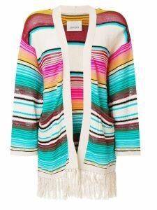Laneus Mexico stripe cardigan - Multicolour