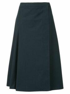Lemaire A-line midi skirt - Blue