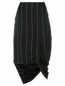 Haider Ackermann asymmetric striped skirt - Black