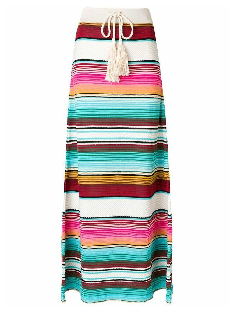 Laneus striped drawstring skirt - Multicolour