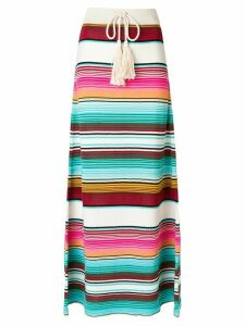 Laneus striped drawstring skirt - Multicolour