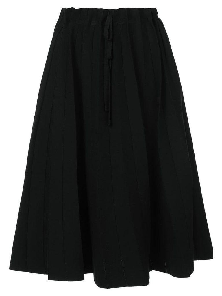 Label Under Construction paper bag waisted mid-length skirt - Black