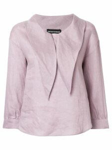 Emporio Armani pointed-collar blouse - Pink