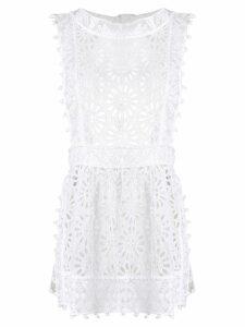 Isabel Marant long perforated blouse - White