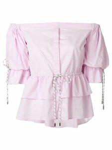 Christian Pellizzari strapless shirt - Pink
