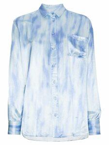 Sies Marjan tie dye long sleeve buttoned shirt - Blue