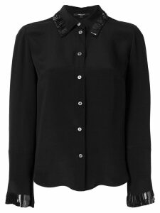Derek Lam fringed trim shirt - Black