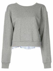 3.1 Phillip Lim tie-back ruffle sweatshirt - Grey