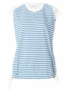 Moncler striped short-sleeve top - Blue