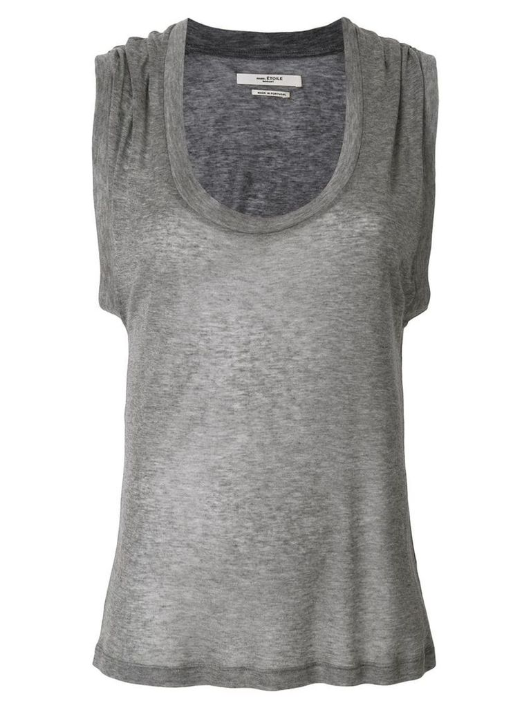 Isabel Marant deep U-neck tank top - Grey