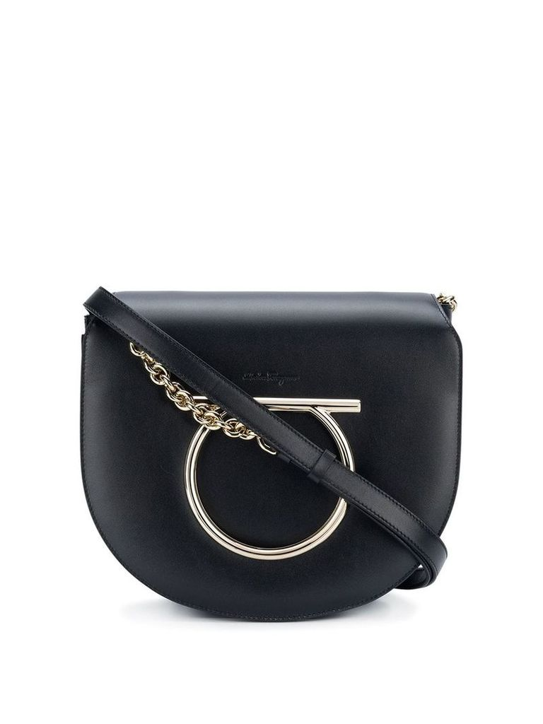 Salvatore Ferragamo Gancini Flap shoulder bag - Black