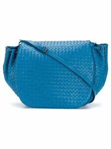 Bottega Veneta Pre-Owned braided flap shoulder bag - Blue