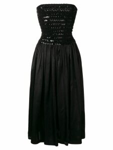 ALAÏA PRE-OWNED 1987 strapless cocktail dress - Black