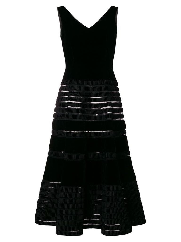 Balmain Vintage 1955 flared midi dress - Black