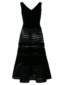 Balmain Pre-Owned 1955 flared midi dress - Black