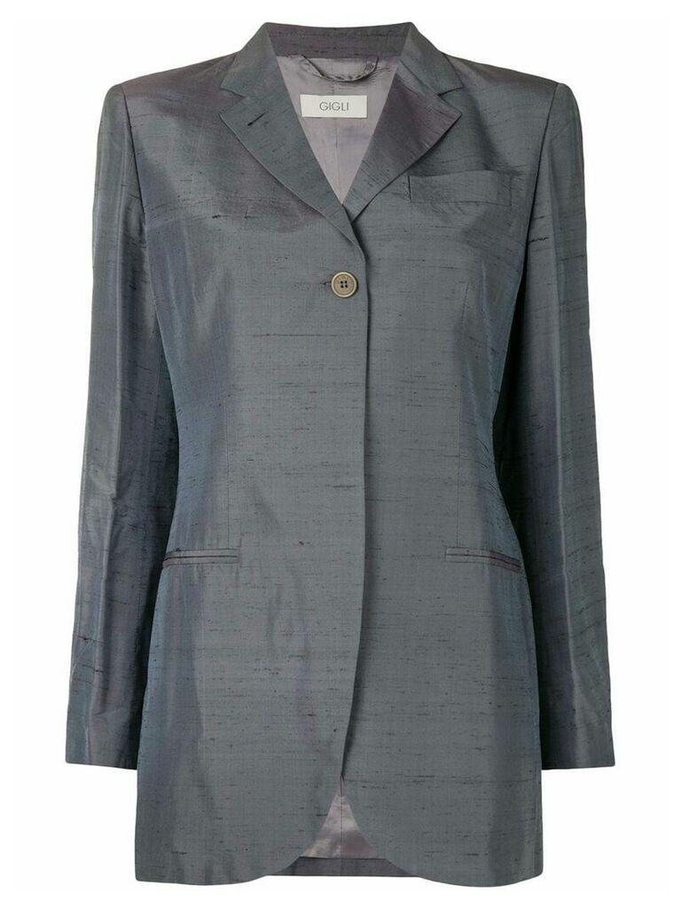 Romeo Gigli Vintage iridescent boxy blazer - Grey