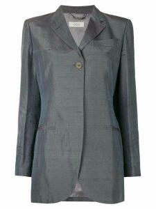 ROMEO GIGLI PRE-OWNED iridescent boxy blazer - Grey