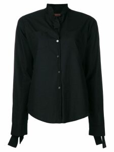 Romeo Gigli Pre-Owned tied detailing shirt - Black
