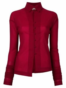 Romeo Gigli Pre-Owned elongated sleeves shirt - Red