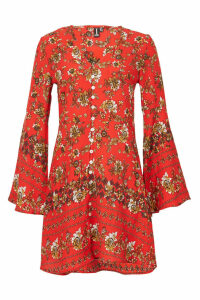 Izabel London Floral Button Front Tunic Dress