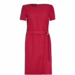 Anastasia  Short Sleeve Belted Dress  women's Dress in Red