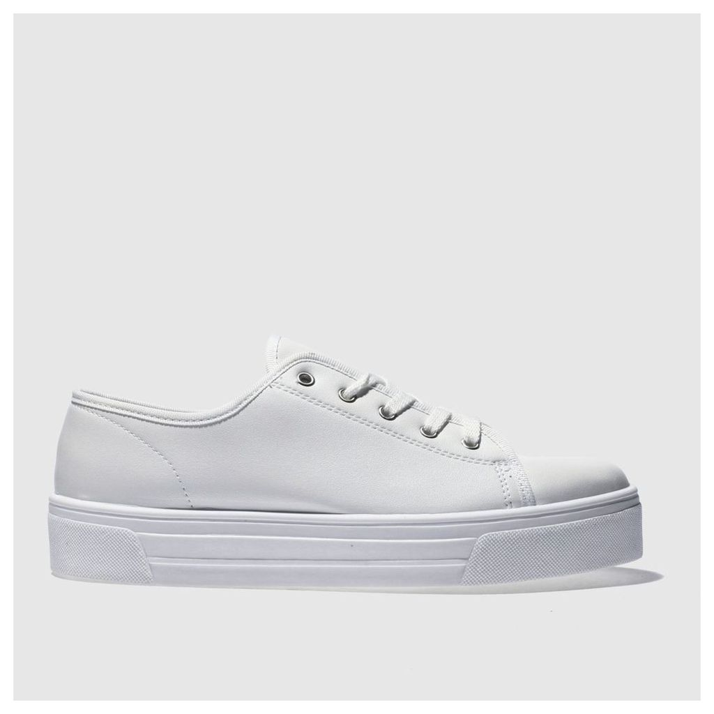 Schuh White & Silver Sneaky Trainers