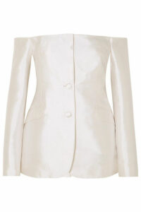 Gabriela Hearst - Dorothea Off-the-shoulder Silk And Wool-blend Blazer - Ivory