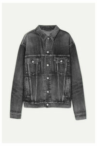 Balenciaga - Oversized Logo-embossed Denim Jacket - Gray