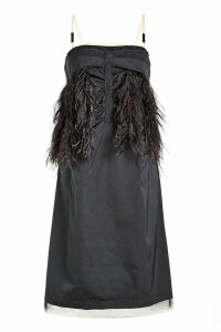 N °21 Dress with Ostrich Feathers and Tulle