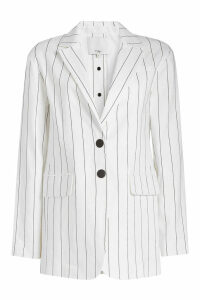 Tibi Striped Blazer in Linen