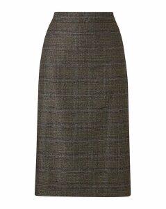 Petite Check Pencil Skirt