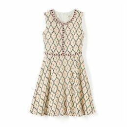 Sleeveless Geometric Print Dress