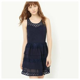 Flared Dress with Lace and Ruffles