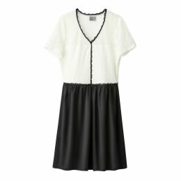 Short Plain Dress with Short Sleeves