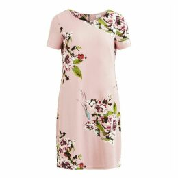 Floral Print Midi Shift Dress