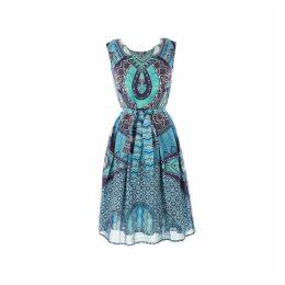 Short Sleeveless Printed Dress