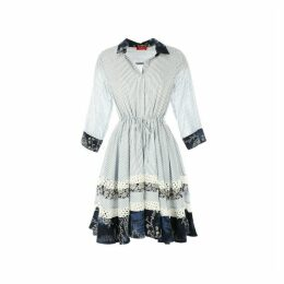 Printed Dress with 3/4-Length Sleeves