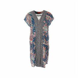 Printed Short-Sleeved Shift Dress