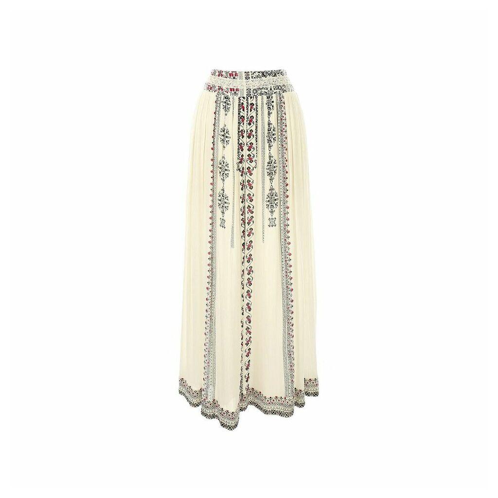 Plain Straight Maxi Skirt
