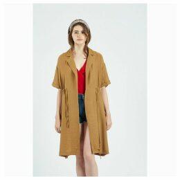 Gabardina Tofee Chamoy Trench Coat
